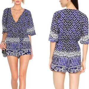Lovers + Friends Floral Romper Small